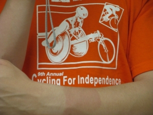 Cycling for Independence and proper sunscreening